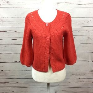 [Lucky Brand] 3/4 Sleeve Knit Cardigan Sweater